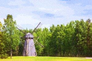 Windmill, Rocca al Mare, Tallinn, Estonia
