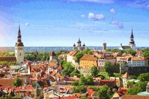 Tallinn, Estonia. Sunny summer day