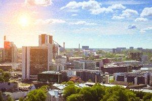 Heights to downtown Tallinn