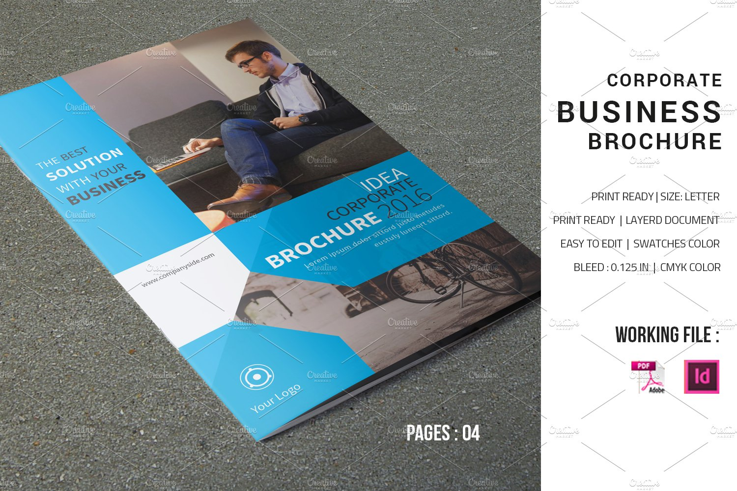 Corporate brochure template v598 brochure templates for Company brochure template