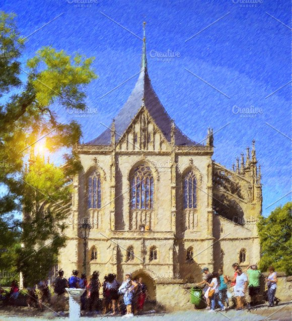 Cathedral of St. Barbara in Kutna Hora - Illustrations