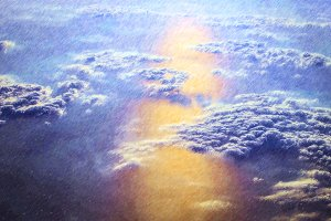 Clouds and sun over the skies