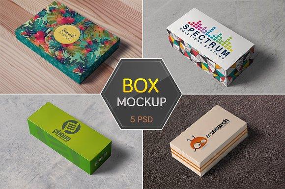 box packaging mockups product mockups creative market