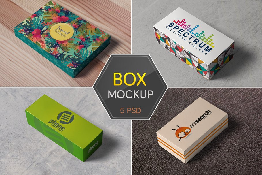 Box Packaging Mockups Creative Product Mockups Creative Market