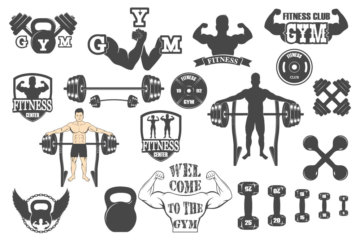 Fitness gym icons ~ Graphics ~ Creative Market