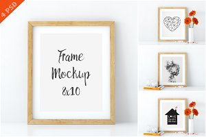 Frame mockups in white 8x10