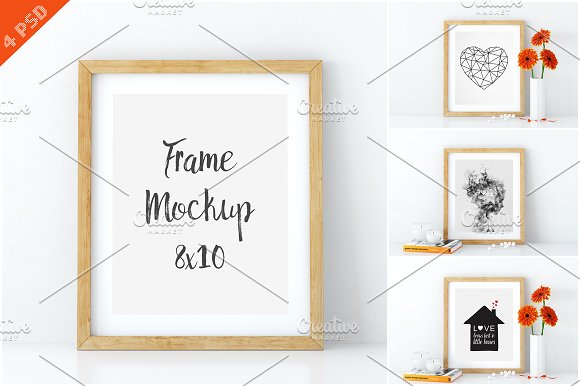 Download Frame mockups in white 8x10