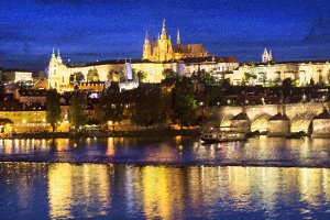 Charles Bridge, Prague Castle, Czech