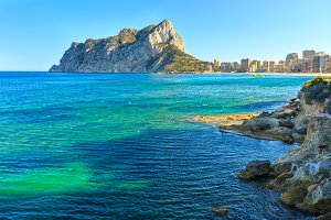 Calp summer coast, Spain.