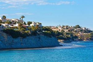Calpe town summer coast, Spain.