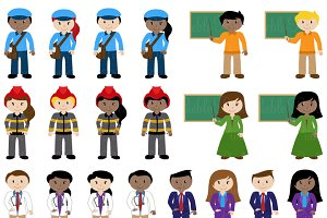 Career Characters Clipart & Vectors