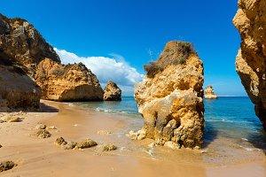 Yellow cliffs near beach (Portugal)
