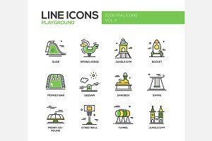 Playground - Line Icons Set