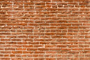 Weathered brick wall for background