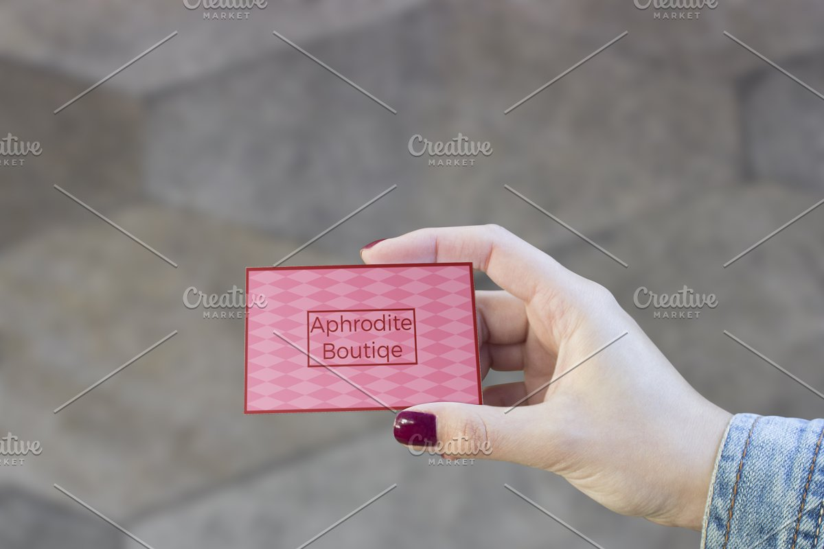 Multipurpose Feminine Business Card