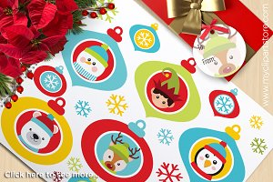 Christmas Tree, Ornaments Clipart