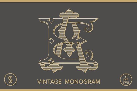 AE Monogram EA Monogram