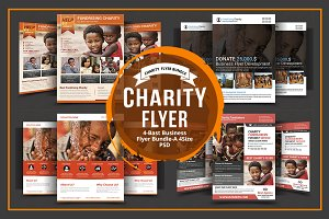 Charity 4 Flyers Bundle
