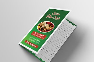 Food Menu Bifold Brochure