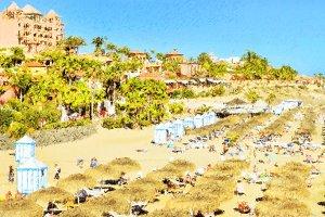 Sandy beach Tenerife, Spain