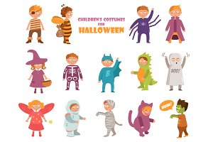 Kids costumes on Halloween