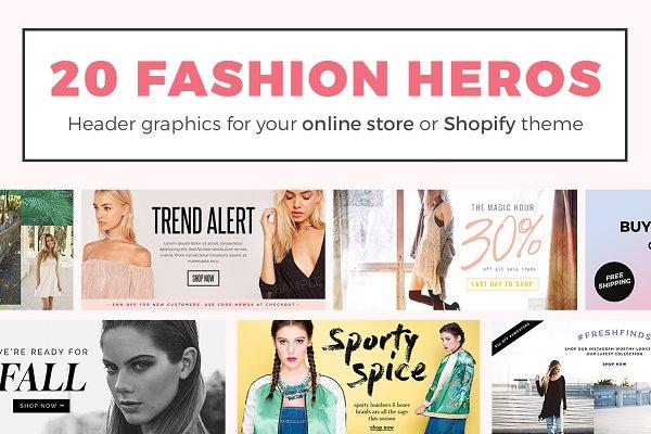 20 Fashion Header Banners PSD