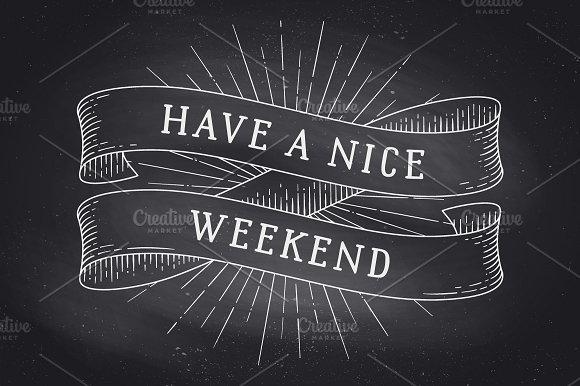 Have a nice weekend. Vintage ribbon - Illustrations