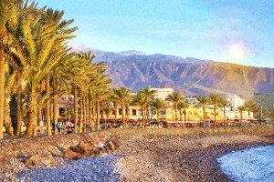 Pebble beach, Tenerife, Canary