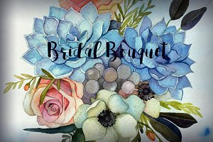watercolor flower bouquets