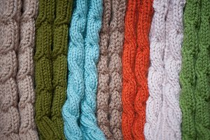 Woolen clothes. Socks.