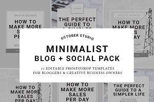Minimalist Blog + Social Graphics