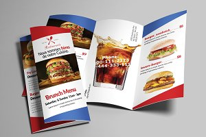 Fast Food Menu Trifold Brochure