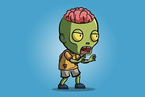 Exposed Brain Zombie