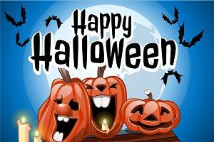 Happy Halloween, party pumpkins