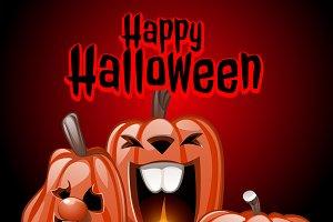 Happy Halloween, party pumpkins 2