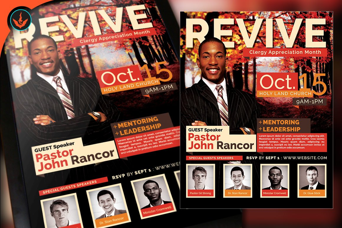 revive fall church flyer template flyer templates on creative market