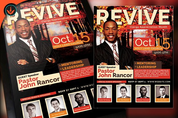 Revive fall church flyer template flyer templates creative market revive fall church flyer template pronofoot35fo Choice Image