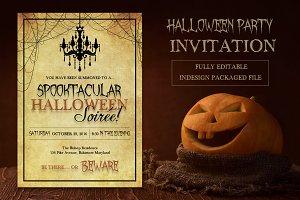 Spooktacular Halloween Soiree Invite