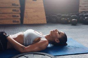 Healthy female athlete