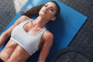 Fit young woman relaxing