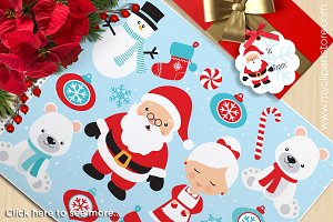 Christmas, North Pole, Santa Clipart