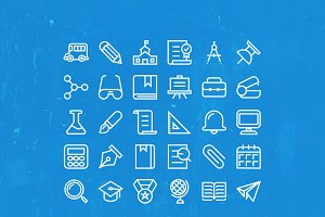Back To School 30 vector Icons set