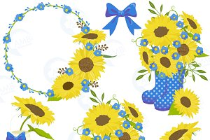 Sunflower Clipart Frames 1435