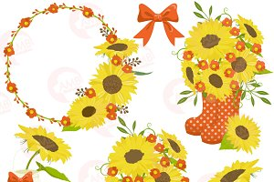 Sunflower Clipart Frames 1434