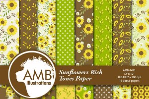 Sunflower Digital Papers 1431