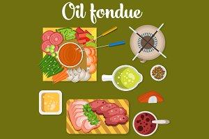 Oil fondue
