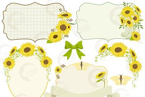 Sunflower Frames Clipart 1429