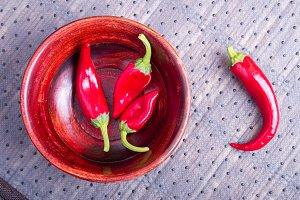 Fruits chilli hot red pepper
