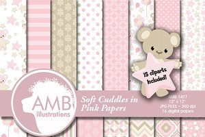 Teddy Bear Clipart and Papers 1427