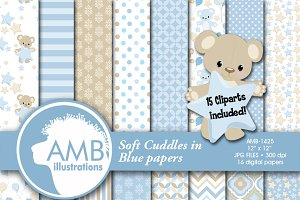 Teddy Bear Clipart and Papers 1425